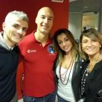 Luca Parmitano con i soci Bamama