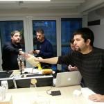 Francesco Lancia Passa i popcorn a Furio