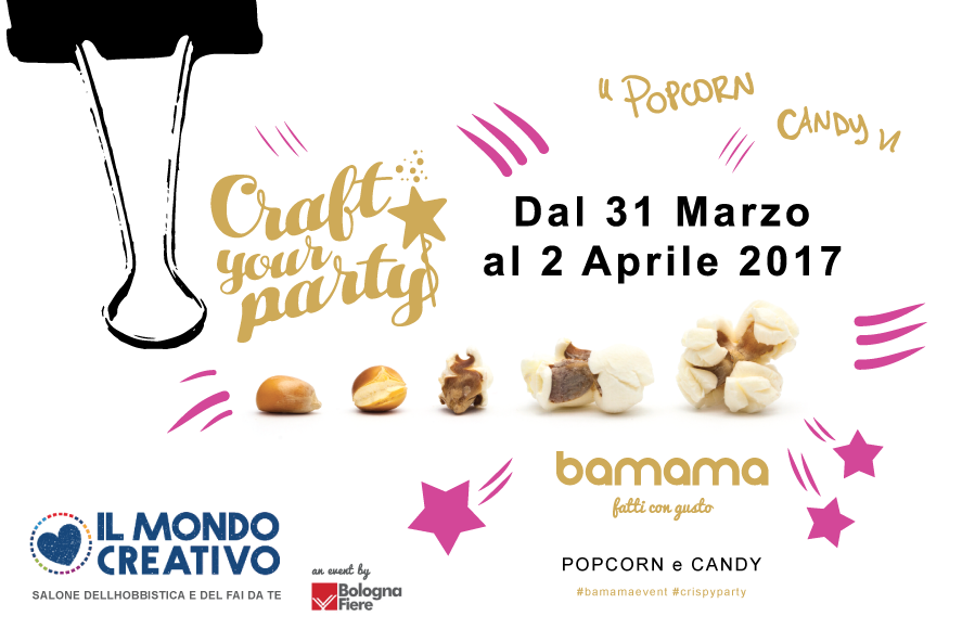Il logo Craft your party, data evento e logo bamama